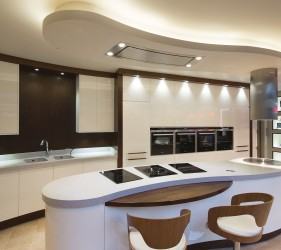 The Milano Kitchen By Acanthus Design Featuring Shaped Corian Worktop & Sink