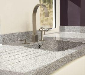 Shaped Corian Worktop & Sink