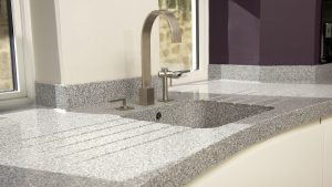 Shaped Corian Worktop & Kitchen Sink