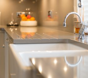 Shaped Corian Worktop & Sink