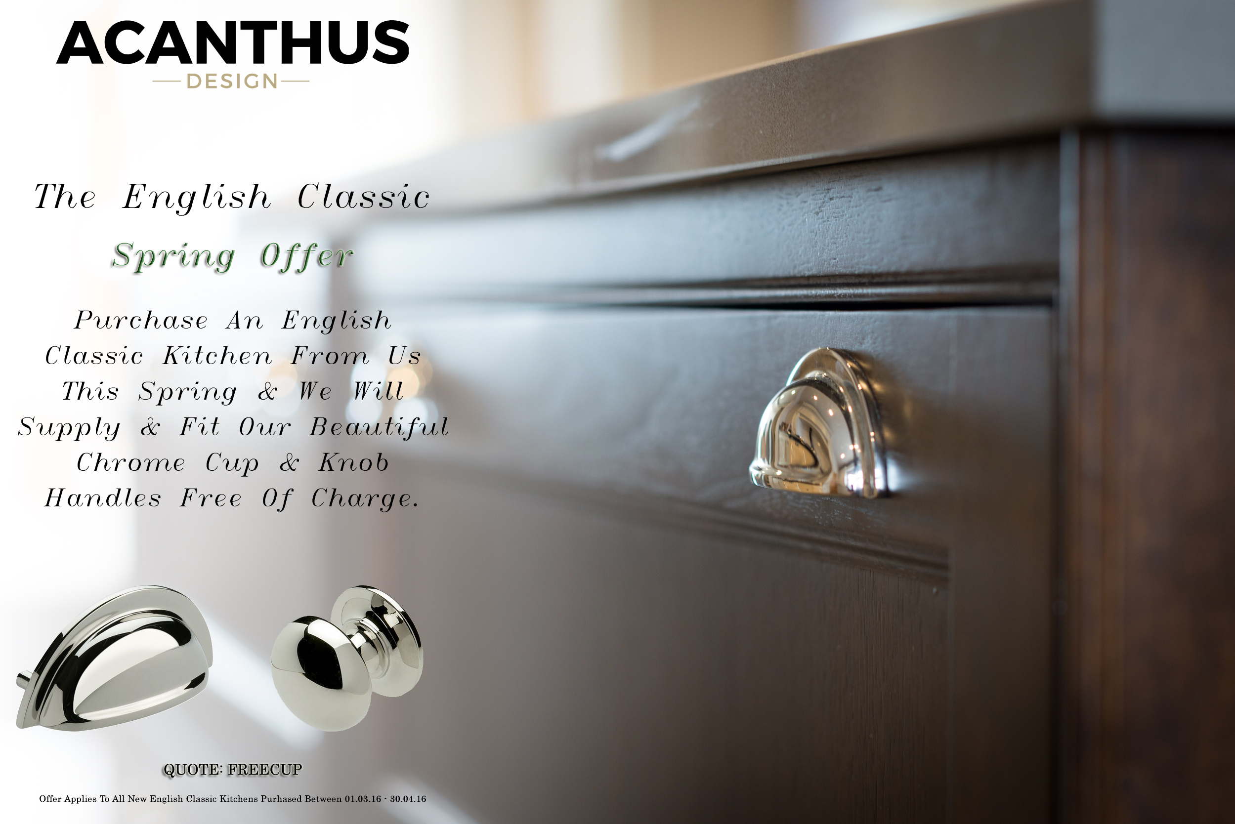 Free Chrome Handles With Every Acanthus English Classic Kitchen
