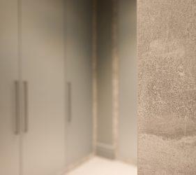 Lunar Conrcete & Brushed Steel Effect Walk in Wardrobe & Virtual 360° Bedroom Tour