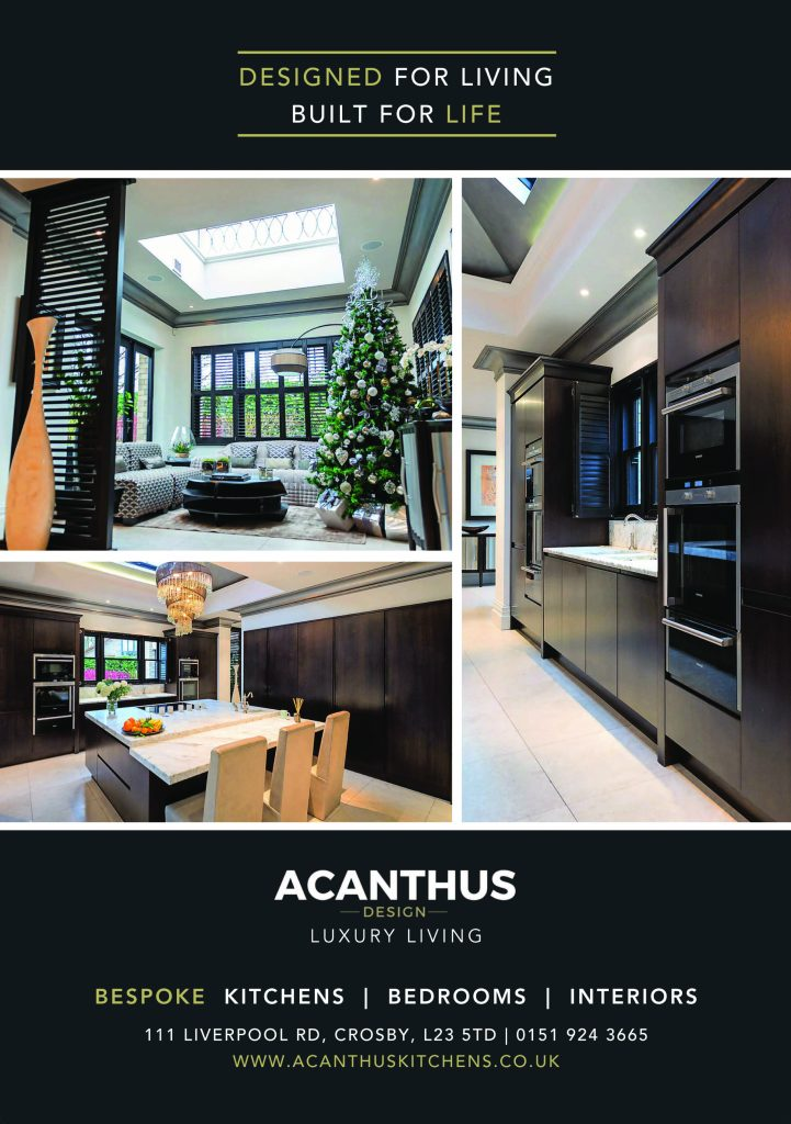 Lancashire Life December Edition Press Release Showcasing Acanthus Design Kitchen