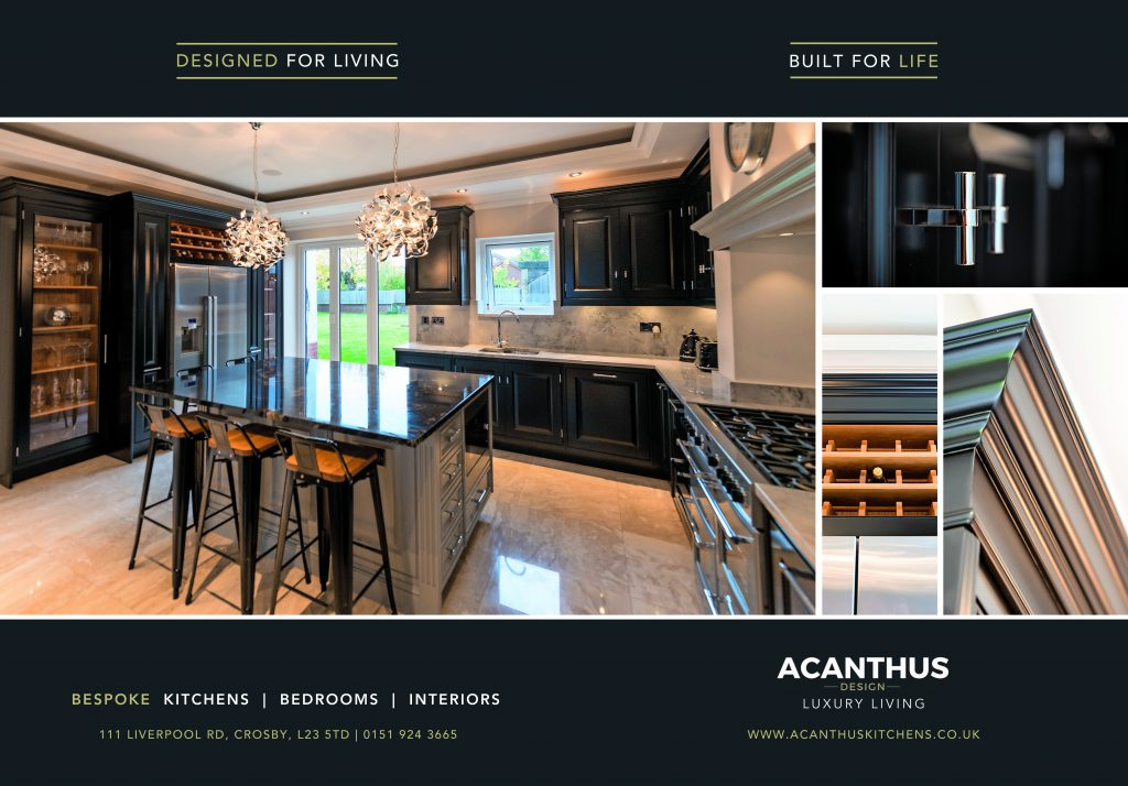 Lancashire Life January Edition Press Release Showcasing Acanthus Design Kitchen