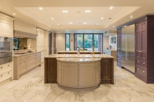 English Classic Kitchen Double Island
