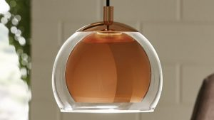 Glass and Polished Copper Light