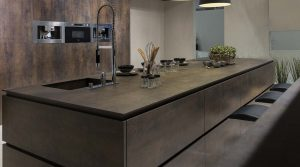 Neolith kitchen worktops iron grey